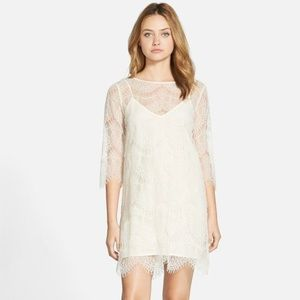 cupcakes & cashmere Marin Lace Shift Dress